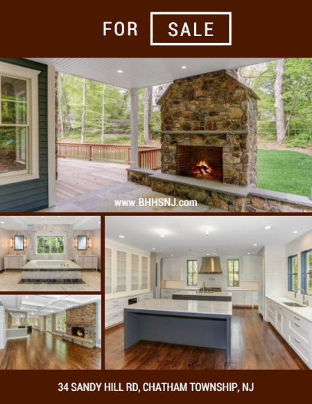 Located in the highly desirable Rolling Hill community of Chatham Twp, 34 Sandy Hill Rd offers gorgeous wood flooring & coffered ceilings, 3 fireplaces, tons of space to entertain, and a master retreat to die for.