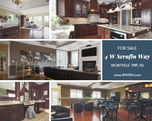 The gorgeous brick Colonial located at 4 W Serafin Way in Montville Twp, NJ offers everything a great host could want for entertaining all their loved ones in style...and then some!