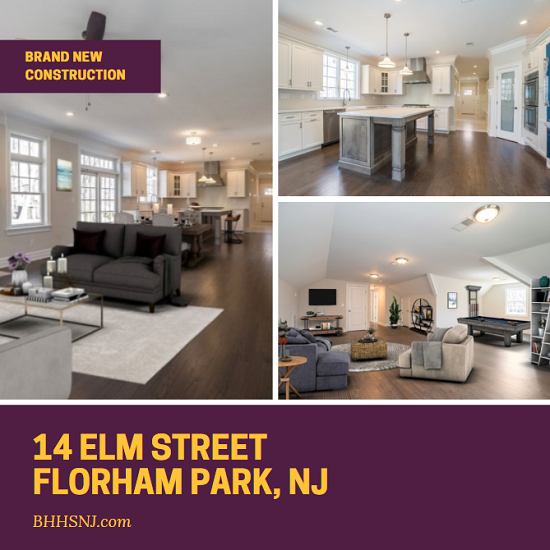 For the family that needs lots of space to grow as well as entertain, the gorgeous newly constructed custom home at 14 Elm St in Florham Park, NJ offers all that and more with only the best high-end finishes and amenities.